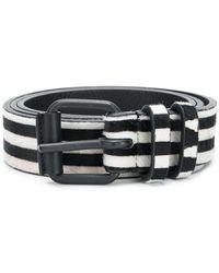 Haider Ackermann - Striped Medium Buckle Belt - Lyst