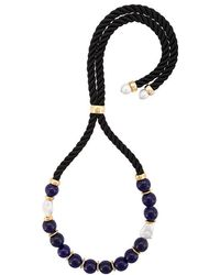 Lizzie Fortunato - Riplay Bead Embellished Necklace - Lyst