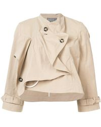 Roberta Furlanetto - Sculpted Cropped Jacket - Lyst