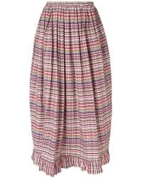 Isa Arfen - Ruffle-trim Billow Skirt - Lyst