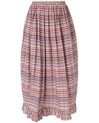 Isa Arfen - Ruffle-trim Billow Skirt - Lyst