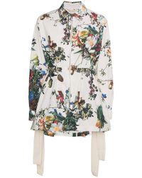 Adam Lippes - Floral Print Anorak Jacket - Lyst