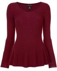 Sofia Cashmere - Knitted Peplum Top - Lyst