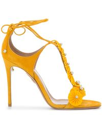 Aquazzura - T-bar Open Toe Sandals - Lyst