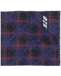 KENZO | Check Patterned Scarf | Lyst