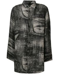Forme D'expression - Graphic Print Long-sleeve Shirt - Lyst