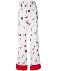 Chinti & Parker - Aztec Print Trousers - Lyst