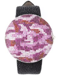 Christian Koban - 'clou' Dinner Watch With A Camouflage Pattern - Lyst
