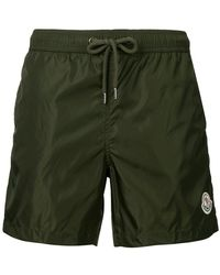 Moncler - Logo Plaque Swimming Trunks - Lyst