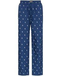 Polo Ralph Lauren Pantalon de pyjama à motif monogrammé - Bleu