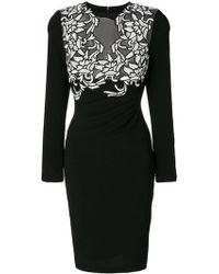 Talbot Runhof - Embroidered Dress - Lyst