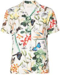 Nicole Miller | Butterfly Print Shirt | Lyst