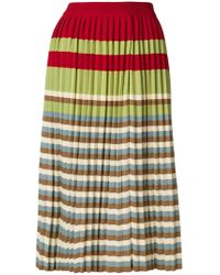 Marni - Multi-stripe Pleated Skirt - Lyst
