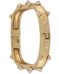 Tory Burch - Studed Stone Square Hinged Bracelet - Lyst