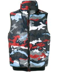 Moncler - Camouflage Feather Down Gilet - Lyst