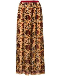 Mes Demoiselles - Gathered Floral Skirt - Lyst