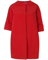 Gianluca Capannolo - Cropped Sleeve Cocoon Coat - Lyst