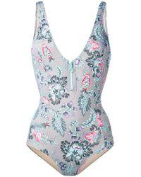 Emmanuela Swimwear | Zipped One-piece Swimsuit | Lyst