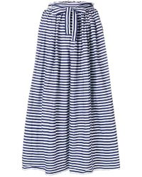 Daniela Gregis - Striped Full Skirt - Lyst