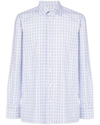Kiton - Checked Button Shirt - Lyst