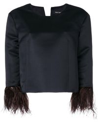 Ter Et Bantine | Feather Trim Top | Lyst