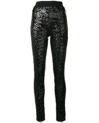 Amen - Sequinned Skinny Trousers - Lyst