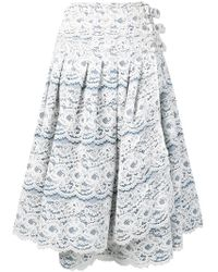 Junya Watanabe - Side-buckle Lace Skirt - Lyst