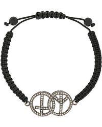 Gemco - Diamond Peace Charm Bracelet - Lyst