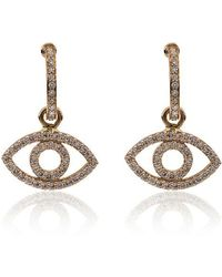 Ileana Makri - 18k Yellow Gold Empty Eye Diamond Earrings - Lyst