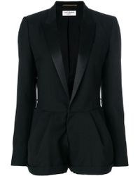Saint Laurent - Tailored Fitted Playsuit - Lyst