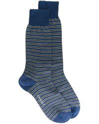 Canali - Striped Socks - Lyst
