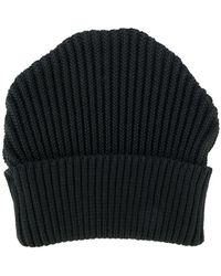 S.N.S Herning - Ribbed-knit Beanie Hat - Lyst