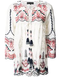 Hemant & Nandita - Flared Embroidered Blouse - Lyst