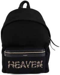 Saint Laurent - City Embroidered Backpack - Lyst