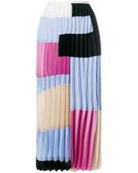 Marni - Colour Block Pleated Skirt - Lyst