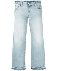 Simon Miller - W005 Grants Cropped Frayed Wide-leg Jeans - Lyst