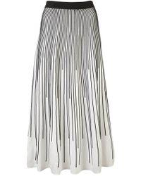 994348ad8f 10 Crosby Derek Lam - Striped Knit Skirt - Lyst