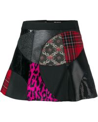 Junya Watanabe - Patchwork Mini Skirt - Lyst
