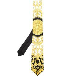 Versace Krawatte mit Barock-Print