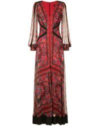 Tadashi Shoji - Robe longue à fleurs - Lyst