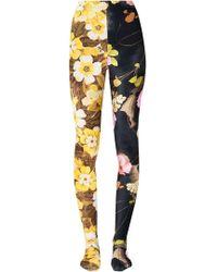 Richard Quinn - Floral Panelled Leggings - Lyst
