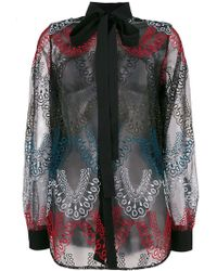 Elie Saab - Embroidered Tulle Shirt - Lyst