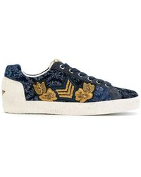 Ash - Embellished Lace-up Sneakers - Lyst