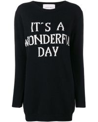 Alberta Ferretti - It's A Wonderful Day Sweater Dress - Lyst