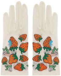 Gucci - Tüllhandschuhe mit Erdbeeren - Lyst