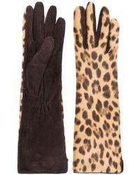Max Mara - Leopard Print Gloves - Lyst