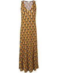 Siyu - Geometric Print V-neck Dress - Lyst
