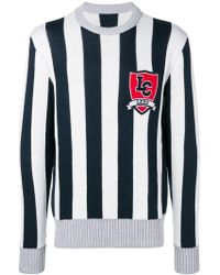 LC23 - Striped Knit Sweater - Lyst