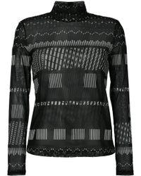 Issey Miyake - Roll Neck Printed Sweatshirt - Lyst