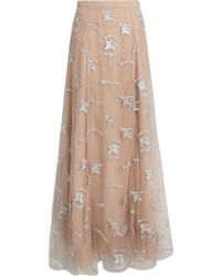 Burberry - Equestrian Knight Embroidered Tulle Skirt - Lyst